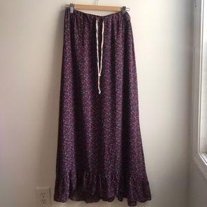 Patterson J. Kincaid purple boho hippie maxi skirt